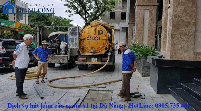 Dịch vụ hút hầm cầu Đà Nẵng giá rẻ - Phương Vy Thành Công